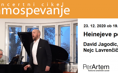 Heinejeve pesmi s tenoristom Davidom Jagodicem in pianistom Nejcem Lavrenčičem