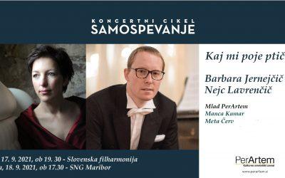 Večer samospevov G. Mahlerja, J. Pavčiča in M. Ravela z mezzospranistko Barbara Jernejčič Fürst in pianistom Nejcem Lavrenčičem v SNG Maribor