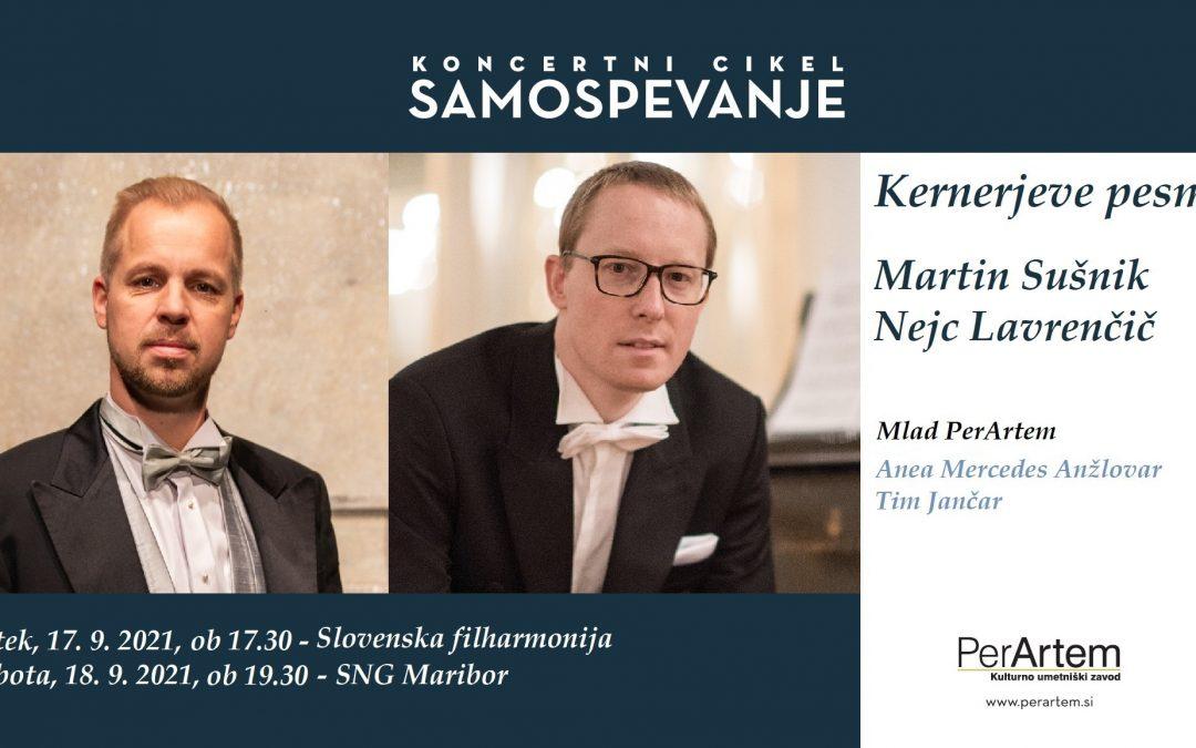 Večer samospevov R. Schumanna na besedila J. Kernerja s tenoristom Martinom Sušnikom in pianistom Nejcem Lavrenčičem v Slovenski filharmoniji